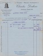 STRASBOURG  NEUHOF 67  ( CHARLES DODERER  ) TONNELLERIE TONNELIER FACTURE DE 1919 - Other