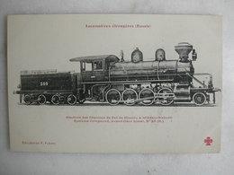 FERROVIAIRE - Locomotive - Coll. F. Fleury - RUSSIE - Machine Des Chemins De Fer De Moscou à Windau-Risbusk - Trains