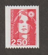 1991 - Marianne De Bréat  - N° 2719 -  2 F 50 Rouge  -    Neuf Sans Charnière - - France