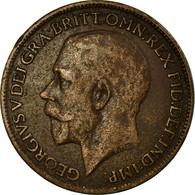 Monnaie, Grande-Bretagne, George V, Farthing, 1921, TB, Bronze, KM:808.2 - 1902-1971 : Monnaies Post-Victoriennes