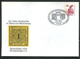 WÜRTTEMBERG-BRIEFMARKE Mi.1 BERLIN PU56 B2/002 Privat-Umschlag  Sost. 1976  NGK 5,00 € - Briefmarken Auf Briefmarken
