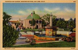 California San Jose Rosicrucian Park Fountain And Garden Curteich - San Jose