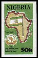 NIGERIA 1991 OAU Flag 50k IMPERF. - Francobolli