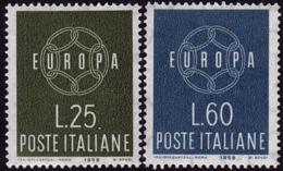 Italie - Europa CEPT 1959 - Yvert Nr. 804/805 - Michel Nr. 1055/1056  ** - 1959