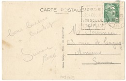 VAR CP 1948 ST CYR SUR MER OMEC DAGUIN ST CYR S/MER LES LECQUES SON SOLEIL ET SA PLAGE - Marcophilie (Lettres)