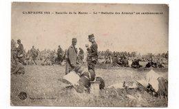 """CAMPAGNE 1914 - Bataille De La Marne - Le """"Bulletin Des Armées"""" Au Cantonnement - Animée (Y166) - Guerra 1914-18"""