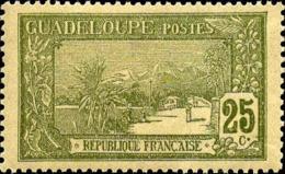 Guadeloupe Poste N* Yv: 81 Mi:78 La Grande Soufrière (Trace De Charnière) - Guadeloupe (1884-1947)