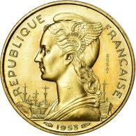 Monnaie, Madagascar, 20 Francs, 1953, Paris, ESSAI, SPL+, Aluminum-Bronze - Madagascar