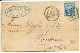 20 CTS BORDEAUX BASSES PYRENEES LAC 1871 BAYONNE 20C TYPE BORDEAUX T3 R2 TIMBRE SUPERBE - 1849-1876: Periodo Clásico