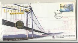 Cover With Coin Hong Kong 10 Dollars 1997 - Hong Kong