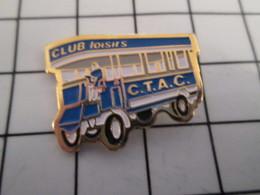 816c Pin's Pins / Beau Et Rare / THEME : TRANSPORTS / AUTOBUS CTAC CLUB DE LOISIRS - Transports