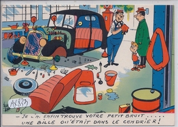 AUTOMOBILE- HUMOUR- ...UNE BILLE ETAIT DANS LE CENDRIER - Cartes Postales