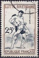 France 1958 - Mi 1200 - YT 1164 ( Breton Wrestling ) - Usati