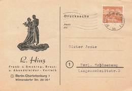 Berlin West Drucksache EF MI.112 , 23.6.54 , Hinz Kleider Verleih - Berlin (West)
