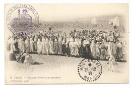 MAROC C. PERLE BOU ANANE 26.12.1911 + POSTE DE BOU ANAN HAUT GHUIR CARTE TAGHIT FETE ARABE - Morocco (1891-1956)