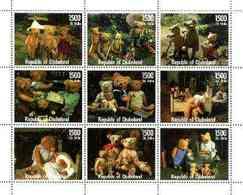 REPUBLIC OF DJUBALAND - Micronation - 1999 - Teddy Bears - Perf 9v Sheet - Mint Never Hinged - Sonstige - Afrika