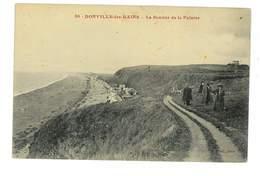 CPA 50 DONVILLE-LES-BAINS LE SENTIER DE LA FALAISE - France