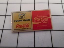 816c Pin's Pins / Beau Et Rare / THEME : SPORTS / TENNIS COUPE DAVIS COCA-COLA BOISSON OFFICIELLE - Tennis