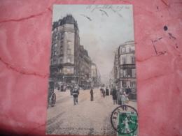 Cpa 75  Colorisee  Paris 18 Rue Ramay Animation - Arrondissement: 18