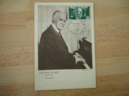 Yt 890  , 1951 Vincent D Indy C M Carte Maximum Cm - Cartes-Maximum