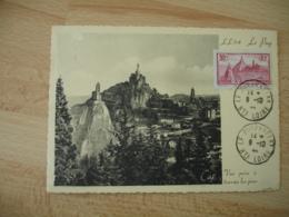 1944 Le Puy En Velay  C M Carte Maximum Cm - 1940-49
