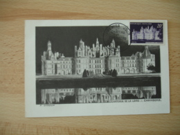 1952 Chateau De Chambord   R  C M Carte Maximum Cm - Cartes-Maximum