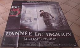 AFFICHE CINEMA ORIGINALE FILM L'ANNEE DU DRAGON Michael CIMIN0 Mickey ROURKE CHINE CHINATOWN 1985 - Posters