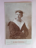 PHOTO GRAND CDV MARIN TONNANT SUR LE BERET  Cabinet G DE PERNAU A CANNES - Old (before 1900)