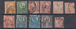 Ungarn Hungary 11 Stamps Ex. Mi# 8-14 Used - Usati
