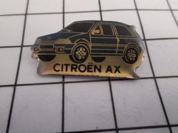 816c Pin's Pins / Beau Et Rare / THEME : AUTOMOBILES / CITROEN AX BLEU MOYEN - Citroën