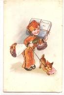 K 1766 OLD FANTASY  POSTCARD  , CHILDREN  , FINE ART , GREETINGS , - Sin Clasificación