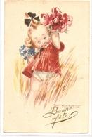 K 1768 OLD FANTASY  POSTCARD  , CHILDREN  , FINE ART , GREETINGS , - Sin Clasificación
