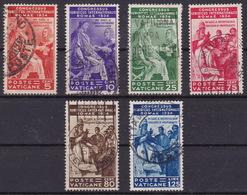 Vatican, Cover, 1934, Juristic Congress, Mi. 45/50, Complete Set, Used - Vatican