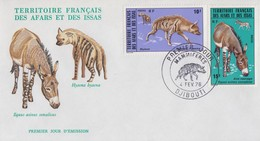 Enveloppe  FDC  1er  Jour  TERRITOIRE  FRANCAIS   Des   AFARS  Et  ISSAS     ANIMAUX   1976 - Afar- Und Issa-Territorium (1967-1977)