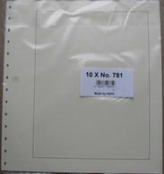 SAFE/I.D. - Feuilles Neutres Fond Chamois Avec QUADRILLAGE (REF. 781) - Paquet De 10 - Albums & Reliures