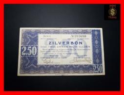 NETHERLANDS 2,50 Zilverbon 1.10.1938  P. 62  VF + - [2] 1815-… : Kingdom Of The Netherlands