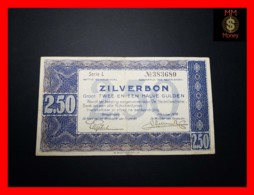 NETHERLANDS 2,50 Zilverbon 1.10.1938  P. 62  VF + - [2] 1815-… : Regno Dei Paesi Bassi