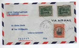 HAITI - 1941 - ENVELOPPE PAR AVION TRANSATLANTIQUE VIA LISBONNE Pour LONS LE SAUNIER (JURA) - Haití