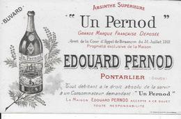 BUVARD PERNOD EDOUARD PERNOD PONTARLER DOUBS - Buvards, Protège-cahiers Illustrés