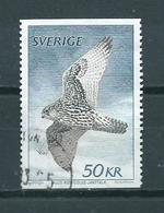 1981 Sweden 50Kr. Falcon/birds Of Prey/birds/oiseaux Used/gebruikt/oblitere - Suecia