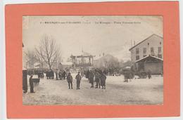 GRANGES-SUR-VOLOGNE  N° 9 PLACE ETIENNE SEITZ KIOSQUE BELLE  ANIMATION    An: Vers 1920 Etat: TB  Edit: Emmanuel - Granges Sur Vologne