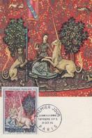 Carte Maximum 1er Jour  FRANCE  Tapisserie  LA  DAME  A  LA  LICORNE  1964 - Maximumkarten