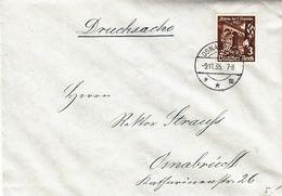 Allemagne - Empire - Lettre De 1935 - Imprimé - Oblit Osnabrück - Exp Vers Osnabrück - Soldats - Frapeaux - Deutschland