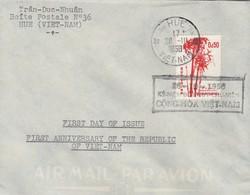 VIET-NAM LETTRE. HUE 1958. PREMIER JOUR - Vietnam