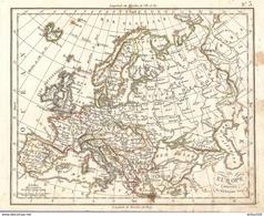 CARTE ANNÉE 1828 EUROPE - CARD YEAR 1828 EUROPE - KARTEN JAHR 1828 EUROPA - TARJETA 1828 EUROPA - DI CARTA 1828 EUROPA - Cartes Géographiques