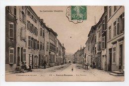 - CPA PONT-A-MOUSSON (54) - Rue Pasteur 1911 - Photo HELMLINGER 175 - - Pont A Mousson