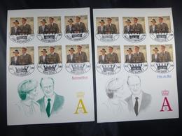 """BELG.1995 2621 FILATELIST CARDS WITH FIRST DAY STAMPS : """" Féte De Albert II / Koningsfeesten """" - FDC"""