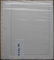 SAFE/I.D. - Feuilles Neutres Fond Blanc Avec QUADRILLAGE (REF. 791) - Paquet De 10 - Albums & Reliures