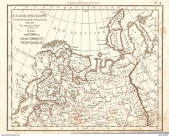 CARTE ANNÉE 1828 RUSSIE D'EUROPE - MAP YEAR 1828 RUSSIA OF EUROPE - KARTE JAHR 1828 RUSSLAND VON EUROPA - RUSSIA D'EUROP - Cartes Géographiques