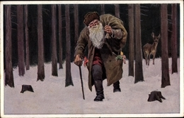 Artiste Cp Hey, P., Knecht Ruprecht, Gehilfe Des Heiligen Nikolaus, Novitas 698/2 - Illustrateurs & Photographes